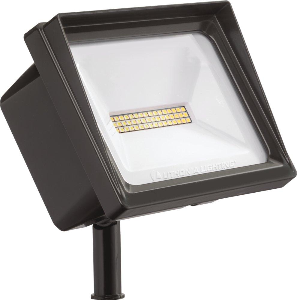 Lithonia Lighting QTE LED P3 40K 120 THK DDB M6 Flood Light, 4,000 lumens | 66 Watts, Bronze | 4000K