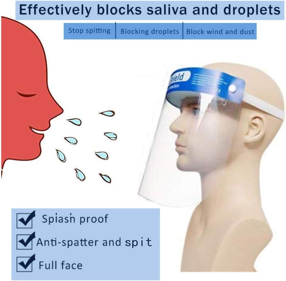 Máscara protectora-máscara de seguridad extraíble anti-escupir salpicaduras de agua sombrero aislamiento aislamiento prevención sombrero