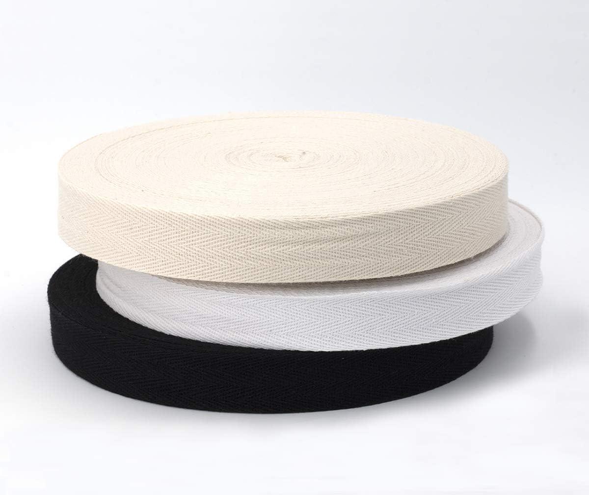 Rollo de 50 m de cinta al bies de algodón de 25 mm de ancho con ...