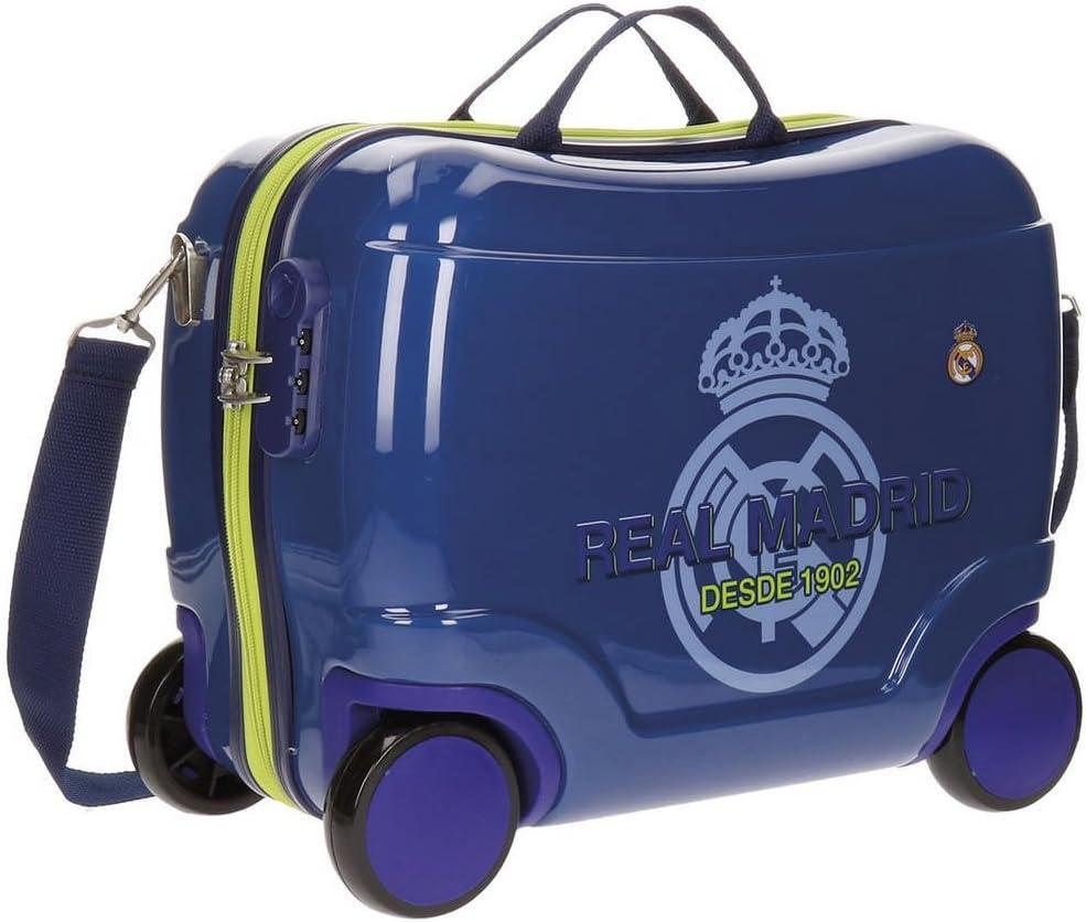 Real Madrid Classic Equipaje Infantil, 41 cm, 25 litros, Azul