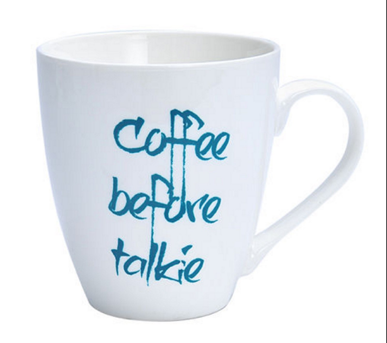 Pfaltzgraff Everyday Coffee Before Talkie Large 18 Ounce Coffee Mug - Blue