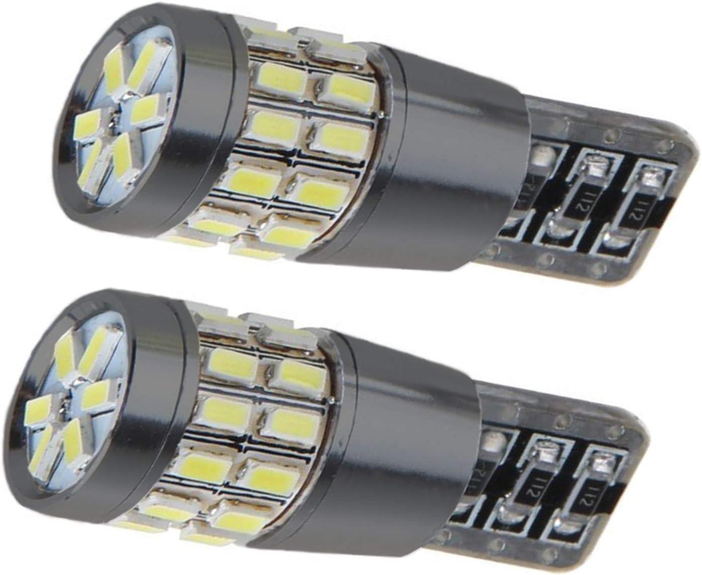 paquet de 2 12 V 5 W Ampoules LED T10 W5W 501