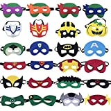 Yibaoo 24 PCS Superhero Party Masks,Tmnt Cartoon Mask,Superhero Birthday Party Supplies,Cosplay Toy for Children or Boys Aged 3+
