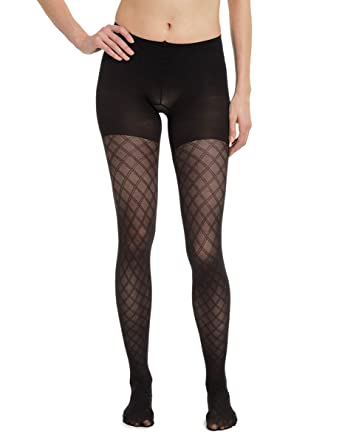 f3d2dfeb4bd SPANX Takes Off` Patterned Shaping Tights Den Black at Amazon Women s  Clothing store