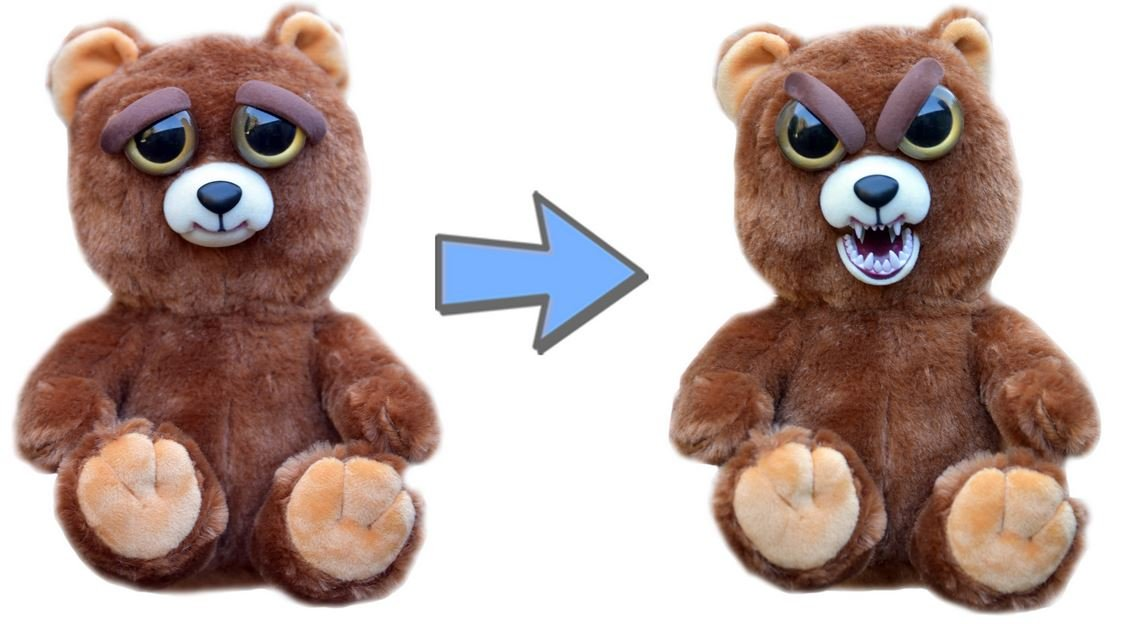 1df946fa8ea Amazon.com  Feisty Pets Sir Growls-A-Lot- Adorable Plush Stuffed Bear that  Turns Feisty with a Squeeze