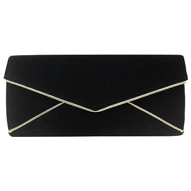 2680c76ed3ea3 Wocharm Fashion Ladies Designer suede velvet envelope clutch bag shoulder evening  prom handbag Wedding Bags Purse