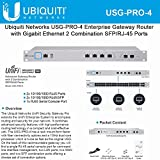 Ubiquiti Networks USG-PRO-4 Enterprise Gateway Router with Gigabit Ethernet 2 Combination SFP/RJ-45 Ports