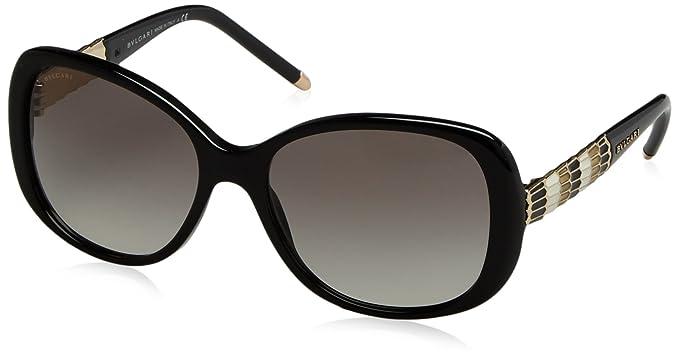 Bvlgari Mujer 0BV8114 501/11 56 Gafas de sol, Negro (Shiny ...