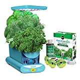 Countertop Herb Garden AeroGarden Sprout LED with Gourmet Herb Seed Pod Kit, Teal
