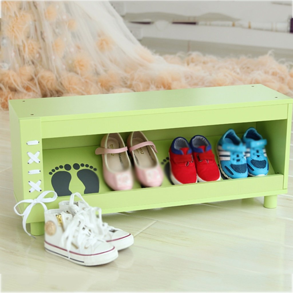 Schuhregal BSNOWF Kinder Schuhschrank Schöne Montage Schlafzimmer Wohnzimmer Kindergarten (Farbe : Grün)