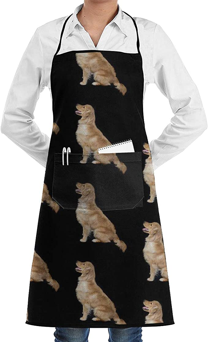 Keep Calm and Walk Golden Retriever Dog Funny BBQ Novelty Cooking  Apron