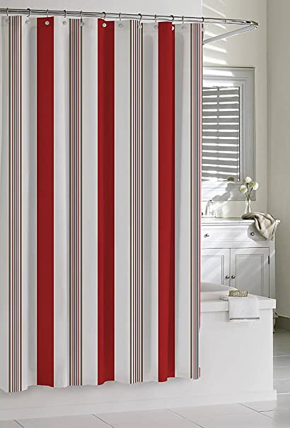 Image Unavailable Not Available For Color Luxor Linens Cirali Striped Shower Curtains