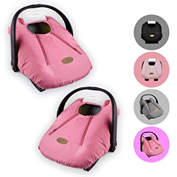 Cozy Cover Infant Car Seat Cover (Pink) - Industrys Leading Infant Carrier Cover Trusted by Over Millions...
