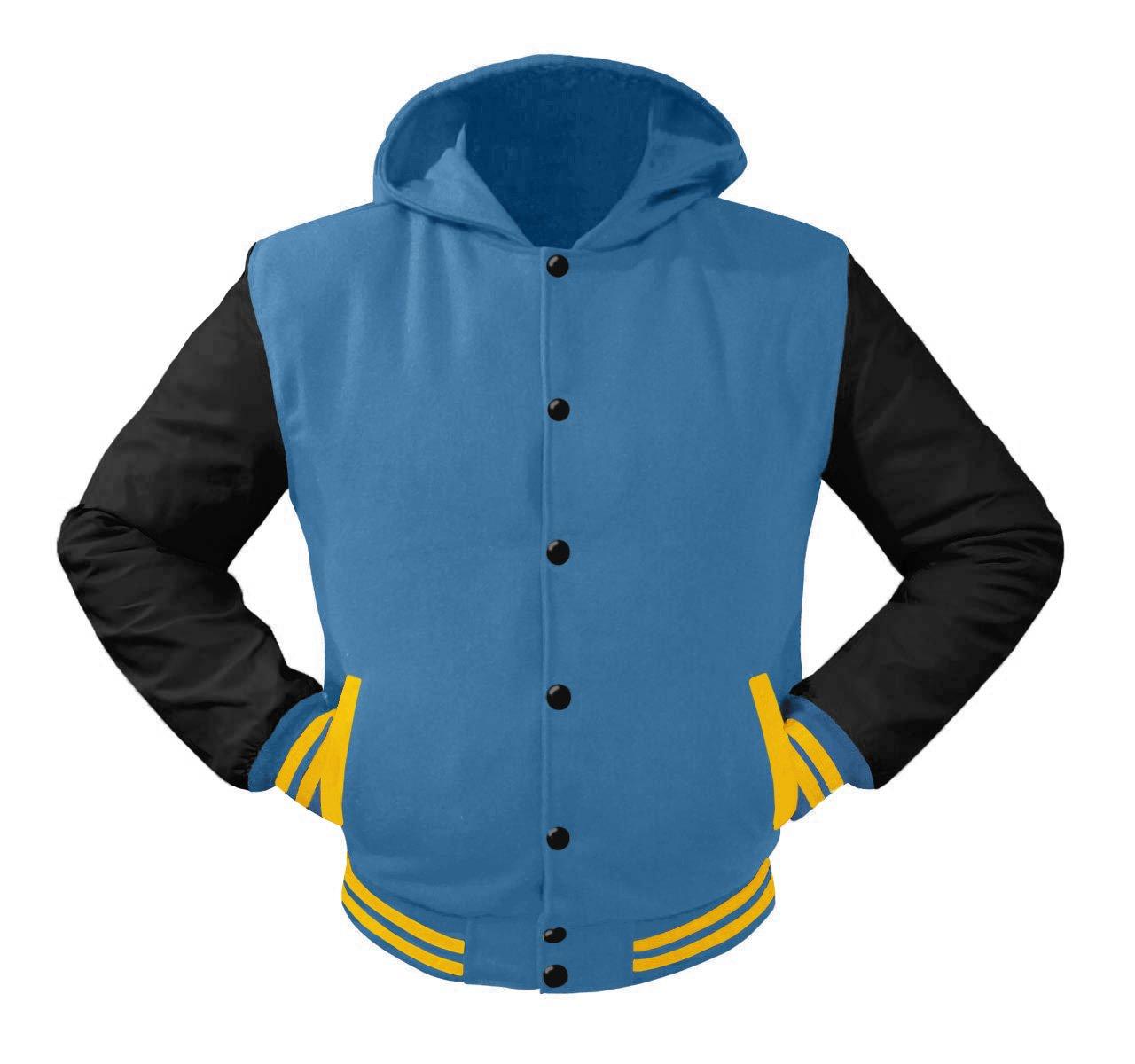 luvsecretlingerie Superb Leather Sleeve Original American Varsity Letterman College Baseball Kid Wool Hoodie Jackets #B-Y-B by luvsecretlingerie