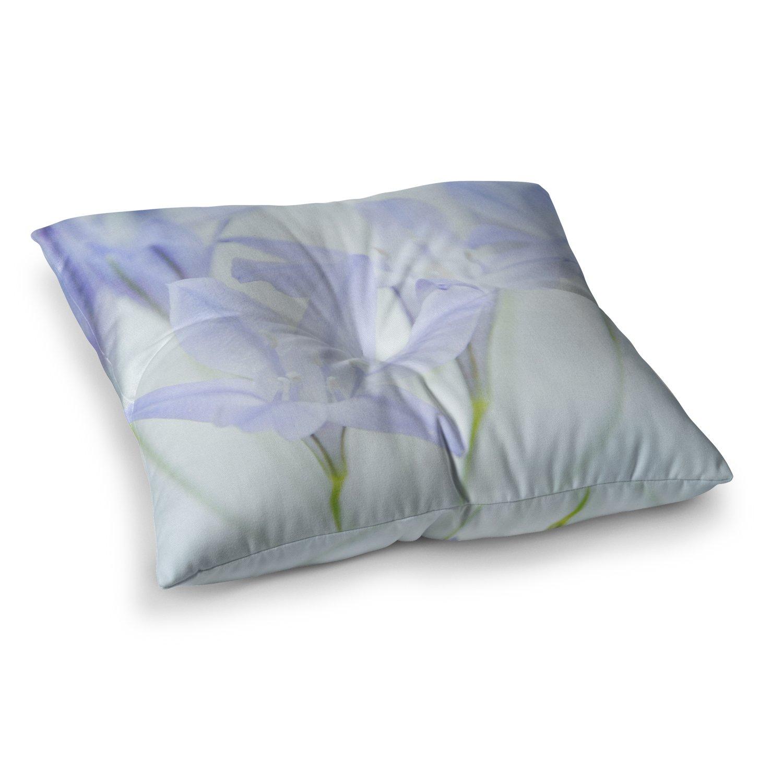 Kess InHouse Iris Lehnhardt Triplet Lily Flower Blue 23 x 23 Square Floor Pillow
