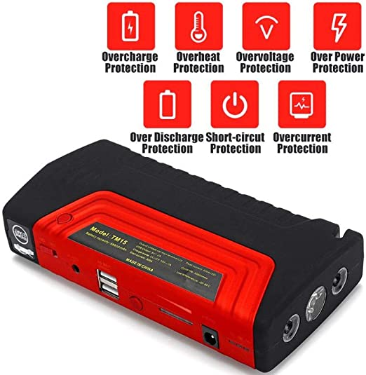 Appearancees Mini Portable 82800mAh Pack Car Jump Starter Multifunction Emergency Charger Booster Power Bank Battery 600A UK Plug