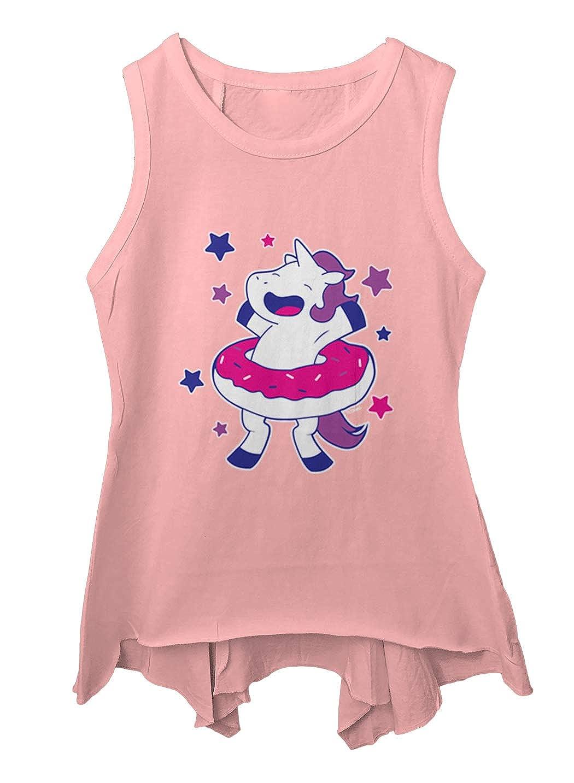 Sprinkles Magic Toddler//Youth Sleeveless Backswing Unicorn with Donut