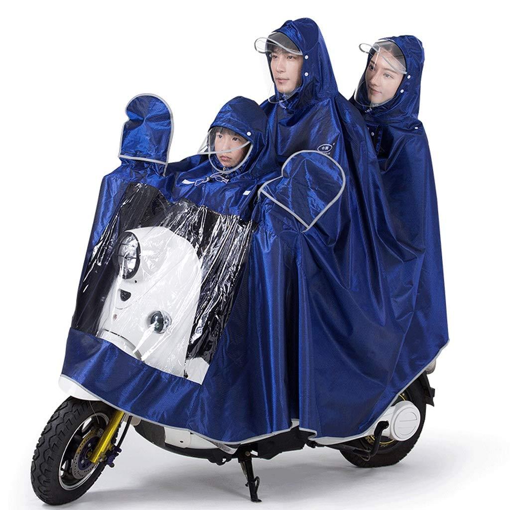 Dark bleu B XXXXXL Duanguoyan Imperméable- Mère et Enfant Double Trois imperméable Moto épaississeHommest électrique AugHommester vélo Poncho imperméable (Couleur   Bleu, Taille   XXXXL)