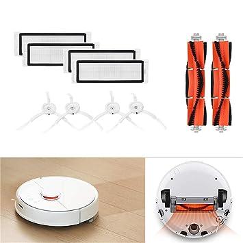 Accesorios para Aspiradoras Kit de Reemplazo Cepillo principal+ Filtros+Cepillos laterales para el robot aspirador XIAOMI MI Holatee: Amazon.es: Hogar