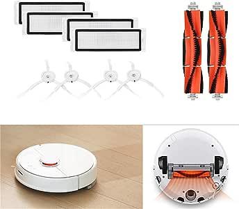 Morrivoe Piezas de Repuesto Compatible con XIAOMI MI Robot Vacuum Home Applicance Parte Cepillos Principales Filtros Laterales Cepillos Accesorios