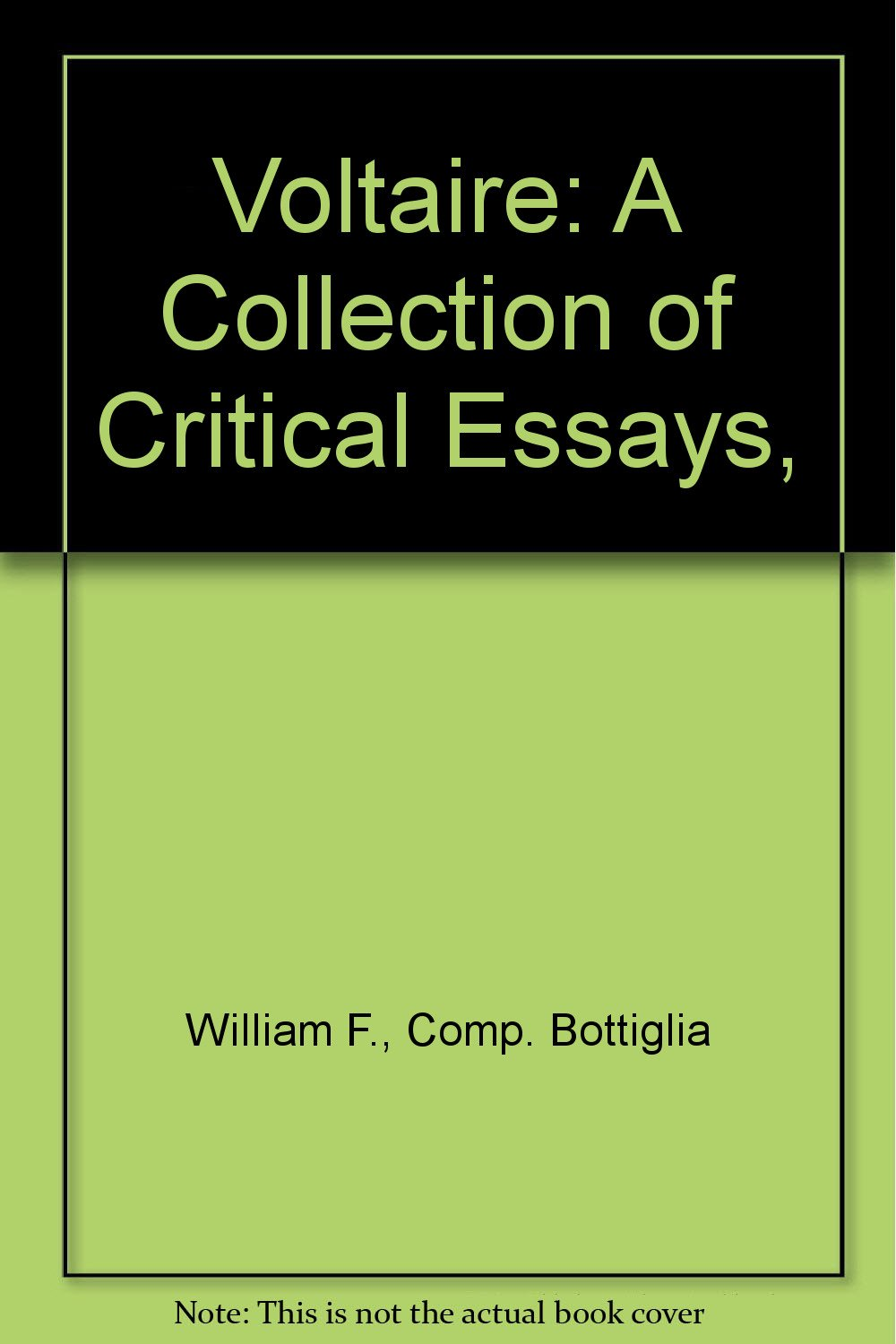 voltaire a collection of critical essays