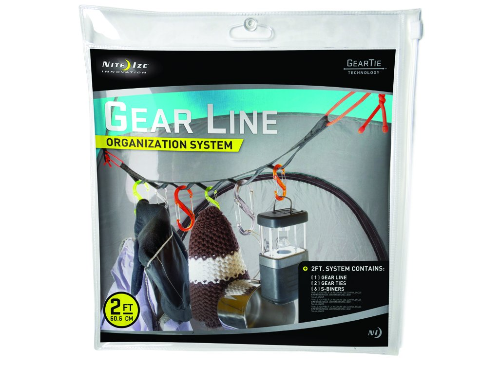 Nite Ize GLN2-M1-R8 Gear Line 2-Feet S-Biner Double-Gated Carabiner Clips