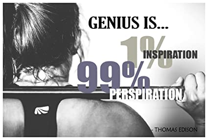 Amazon Genius Is 1 Inspiration 99 Perspiration Poster Wall