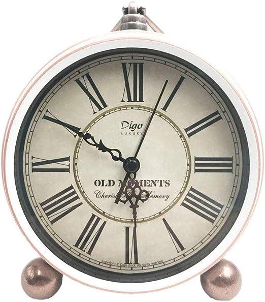 Silent relojes de mesa de alarma, los números romanos del metal ...