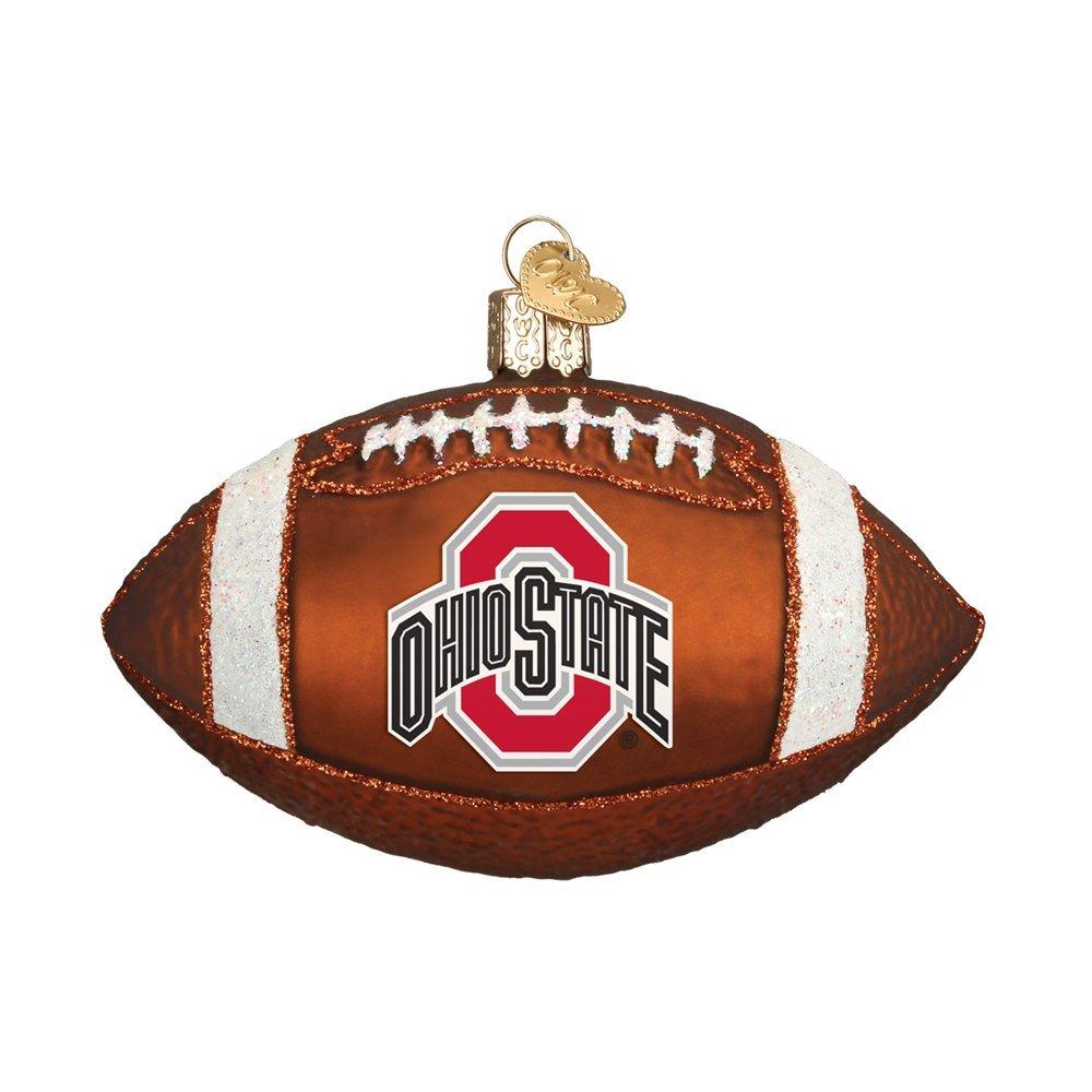 Old World Christmas Ohio State University Football Glass Blown Ornament