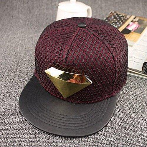 [Blazers Proforms Costumes Fashion trend Men's Snapback adjustable Unisex Baseball Cap Hip Hop hat - Gold Diamond Wine] (In Stock Hip Hop Costumes)