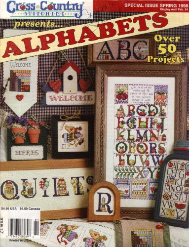 Alphabet Junction - Cross Country Stitching Alphabets Spring 1998 (Over 50 Projects)