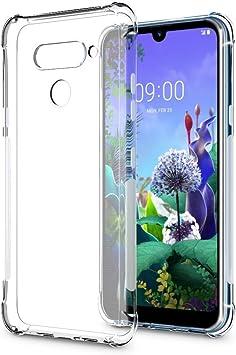WUFONG Funda para LG Q60,Estuche para teléfono móvil,Caja del teléfono móvil Ultrafina Totalmente Transparente, Cubierta de airbag de Cuatro Esquinas Gruesa: Amazon.es: Electrónica