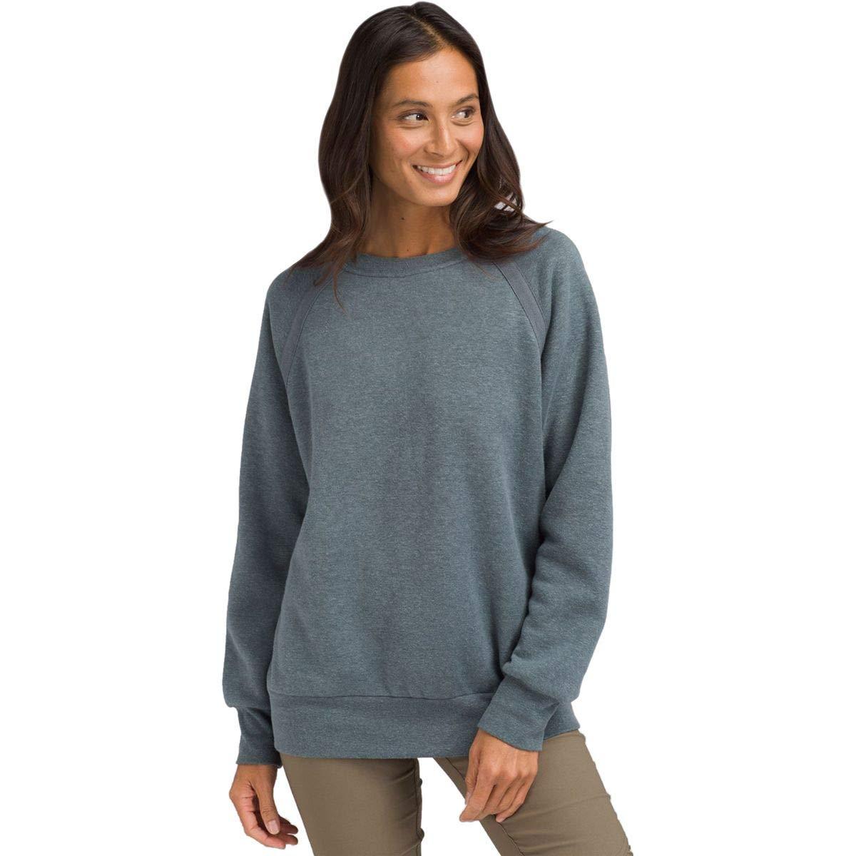 prAna Women's Cozy Up Sweatshirt, Grey Blue Heather, Large by prAna