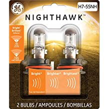 GE H7-55NH/BP2 Nighthawk Automotive Replacement Bulbs, (Pack of 2)
