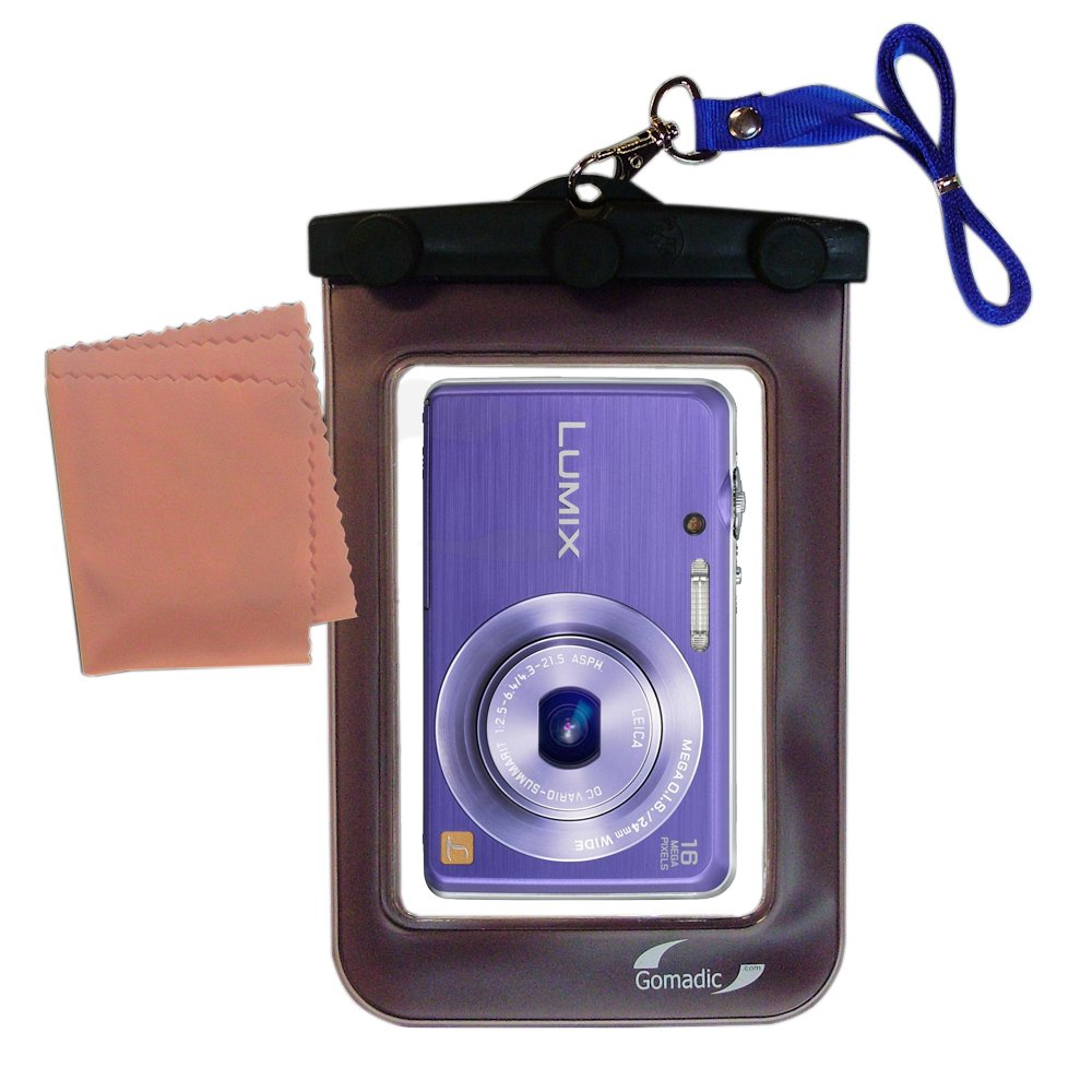 Gomadic防水カメラ保護バッグSuitable for the Panasonic Lumix DMC - dmc-fh8 V – UniqueフローティングデザインKeepsカメラClean and Dry   B00ICSHDIO
