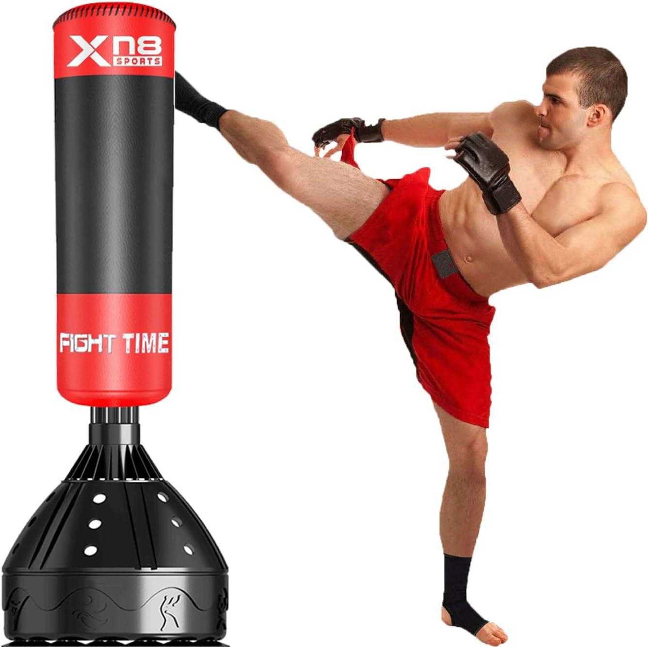 Schweres Boxsack Fitness Karate Training ZGF Sport gef/üllte Boxsack f/ür Erwachsene,100cm Kickboxen Gymnastik-Training