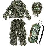 Yaheetech Camo Woodland Camouflage Forest Design Ghillie Suit, 4-Piece, XL/XXL