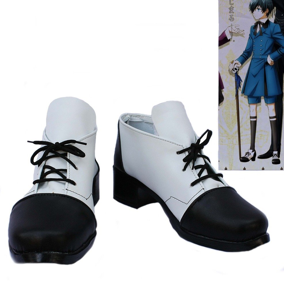 Black Butler 2 Kuroshitsuji Ciel Cosplay Shoes Boots Custom Made 10.5 D(M) US Male