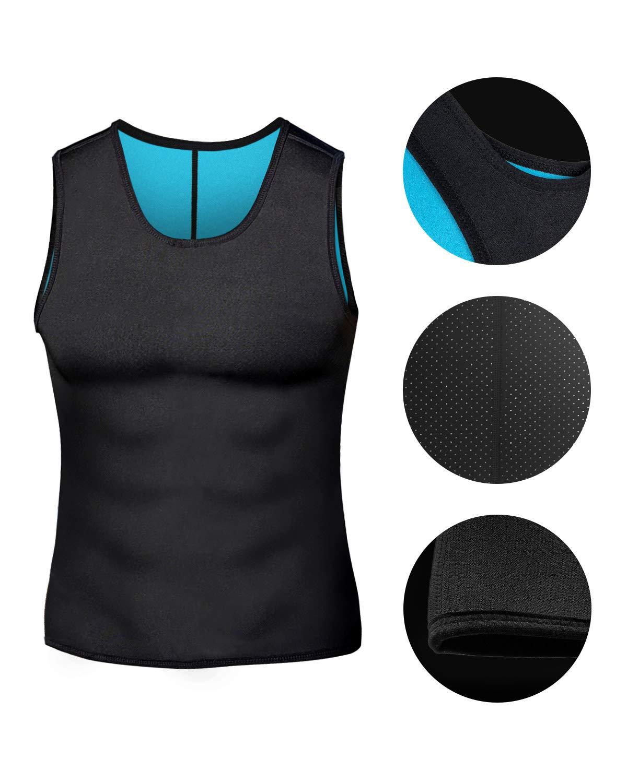 DoLoveY Men Neoprene Sauna Vest Weight Loss Sweat Suit Hot Corset Workout Body Shaper Waist Trainer