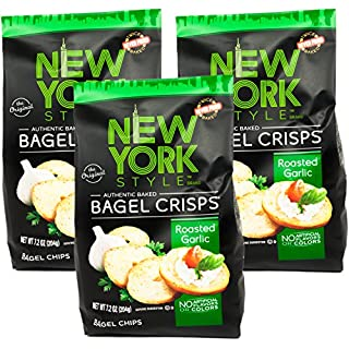 New York Style Garlic Bagel Crisps, 7.2 oz (Pack of 3) - SET OF 3