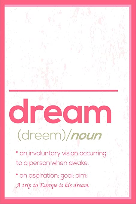 amazon com jsc495 definition of dream dictionary style poster red