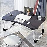 In-House Folding Laptop Table, Black, FS-3756