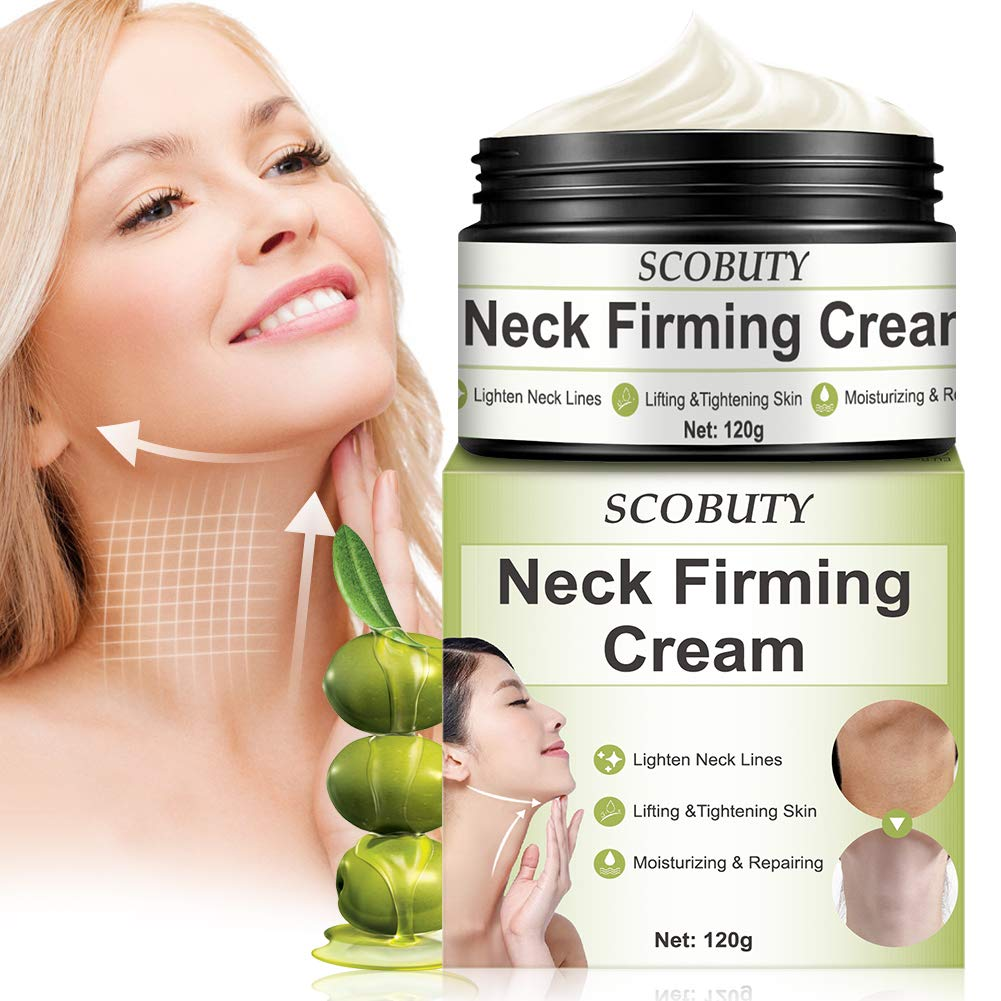 Neck Firming Cream,Neck Tightening Cream,Neck Cream,Neck Moisturizer Cream,Anti Wrinkle Anti Aging Neck Lifting Cream for Neck Décolleté Double Chin Turkey Neck Saggings Crepe by SCOBUTY