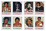Michael Jackson Mint Never Hinged Stamps SG 940-947 - 8 stamps issued 1985 / St.Vincent / MNH