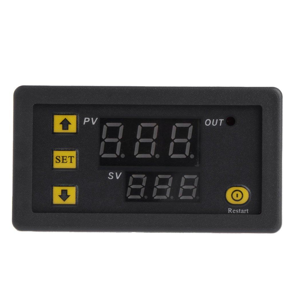 50-120 /° C Longsw Contr/ôleur De Temp/érature Num/érique W3230 DC 12V 20A R/égulateur De Thermostat