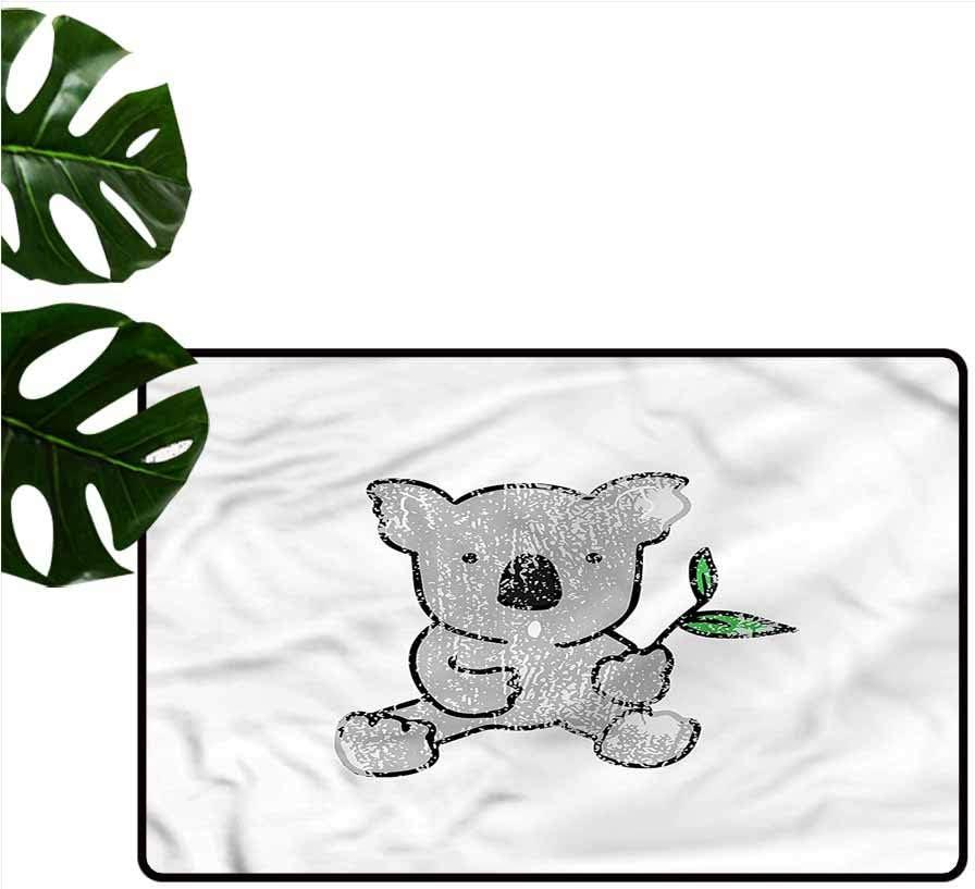 """HOMEDD Welcome Doormat,Koala Cartoon Style Drawing Bear,Customize Door mats for Home Mat,35""""x24"""""""