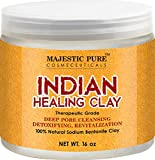 Bentonite Clay Mask Reviews Majestic Pure Indian Healing Clay Powder, 16 Oz