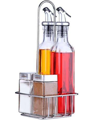 Le Juvo Aceite, vinagre, Sal y Pimienta Aceite y vinagre Set (Pack DE
