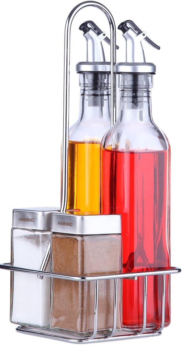 Le Juvo Aceite, vinagre, Sal y Pimienta Aceite y vinagre Set (Pack de 5)