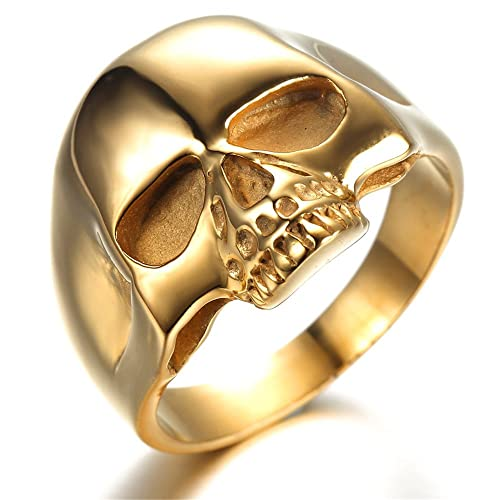 Gold Skull Ring: Amazon.com
